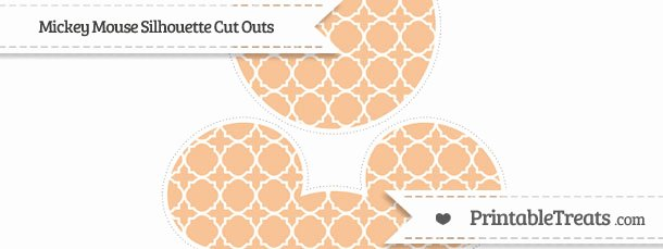 Mickey Mouse Cut Out Printable Inspirational Pastel orange Quatrefoil Pattern Mickey Mouse