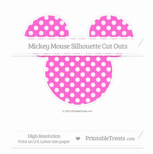 Mickey Mouse Cut Out Printable Inspirational Rose Pink Dotted Pattern Extra Mickey Mouse