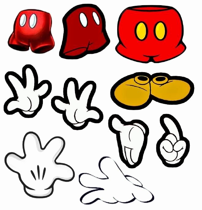 Mickey Mouse Cut Out Printable New Mickey Mouse Cut Outs Party Pinterest