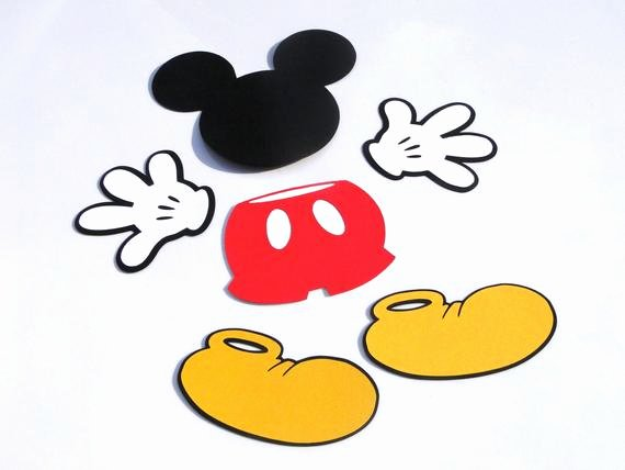 Mickey Mouse Head Cutout Template Beautiful Mickey Mouse Glove Die Cut Disney S Mickey Mouse