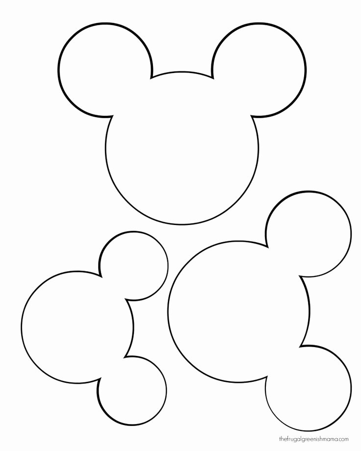 Mickey Mouse Head Cutout Template Elegant Printable Mickey Mouse Ears Template Google Search