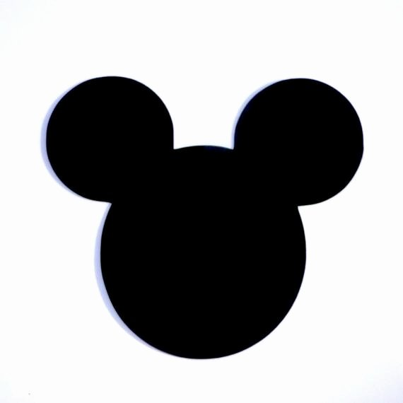 Mickey Mouse Head Cutout Template Fresh 4 Mickey Mouse Head Ears Die Cut Disney S Mickey