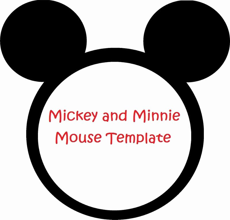 Mickey Mouse Head Cutout Template Fresh Minnie Mouse Cut Outs Printable
