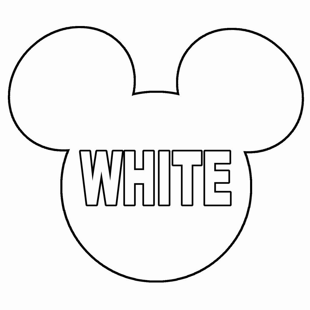 Mickey Mouse Head Cutout Template Fresh Minnie Mouse Head Printable Mickey Mouse Head Clip Art