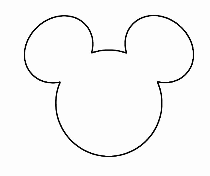 Mickey Mouse Head Cutout Template Inspirational Mickey Mouse Pattern Templates Pinterest