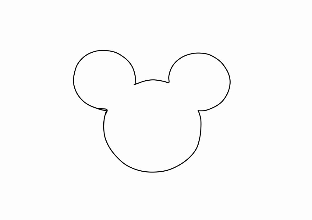 Mickey Mouse Head Cutout Template New Free Mickey Mouse Template Download Free Clip Art Free