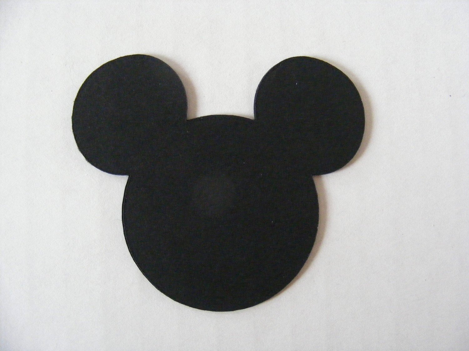 Mickey Mouse Head Cutout Template New Mickey and Minnie Mouse Head Die Cut Custom Listing for
