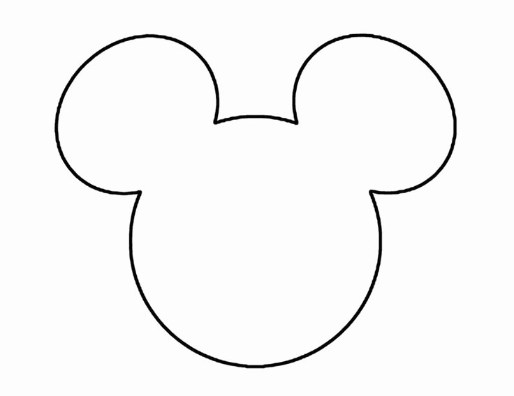 Mickey Mouse Head Cutout Template New Mickey Mouse Ears Head Outline Christmas