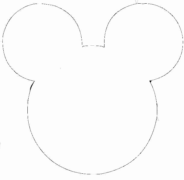 Mickey Mouse Head Printable Cutouts Best Of Free Outline Mickey Mouse Head Download Free Clip Art