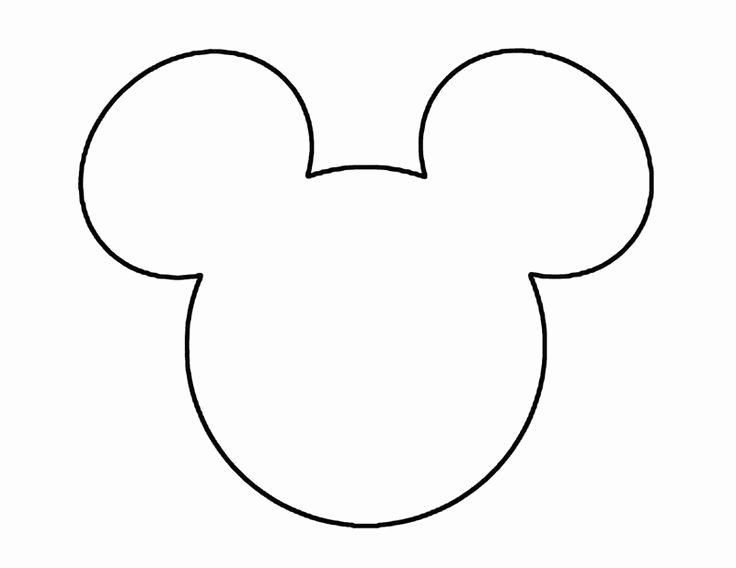 Mickey Mouse Head Printable Cutouts Fresh Mickey Mouse Template Costura Pinterest