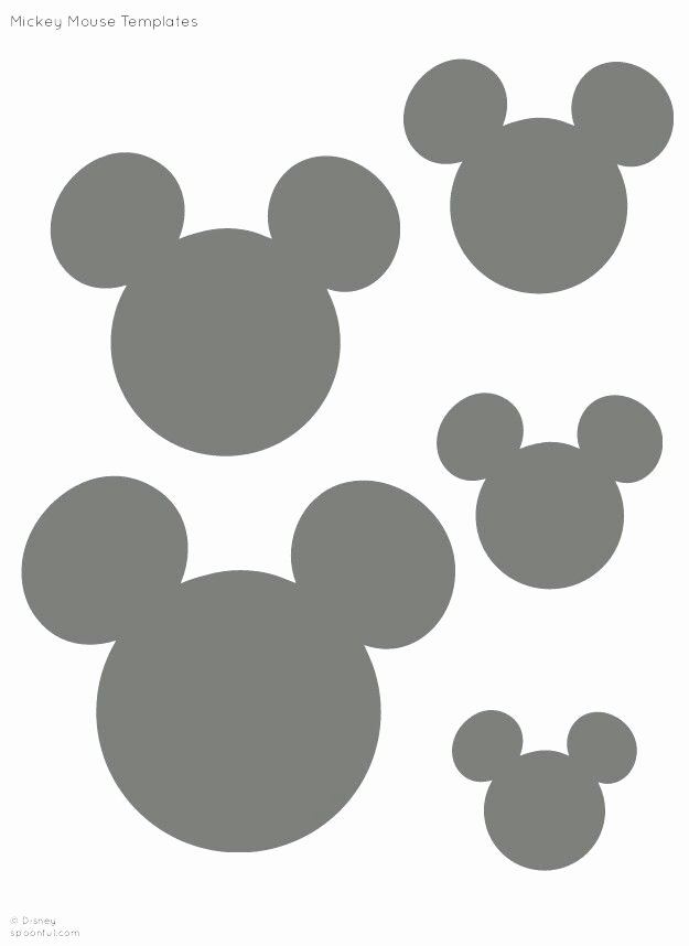 Mickey Mouse Head Printable Cutouts Inspirational Best 25 Mickey Mouse Stencil Ideas On Pinterest