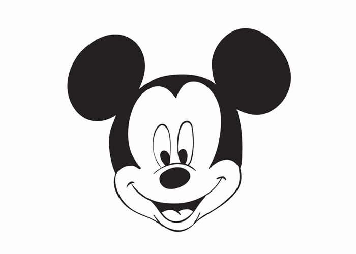 Mickey Mouse Head Printable Cutouts Unique Mickey Mouse Head Coloring Pages