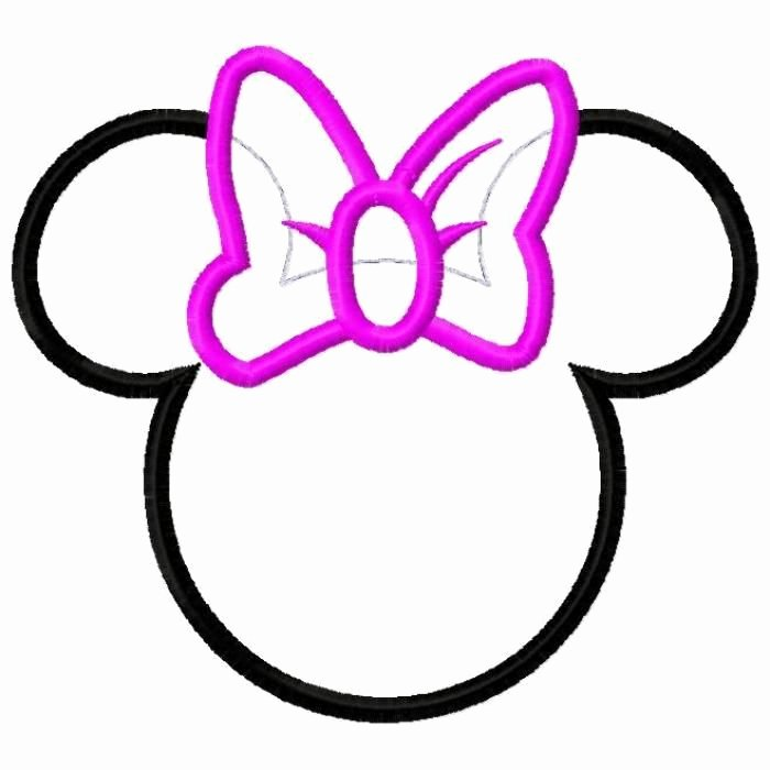 Mickey Mouse Head Printable Cutouts Unique Minnie Mouse Bow Cutouts Minnie Mouse Bow Cut Out Clipart