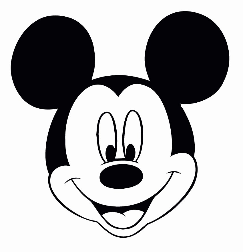 Mickey Mouse Head Template Elegant Printable Mickey Mouse Head Cliparts