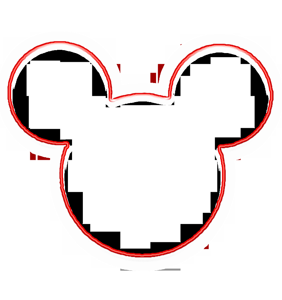 Mickey Mouse Head Template Fresh Minnie Mouse Outline Head