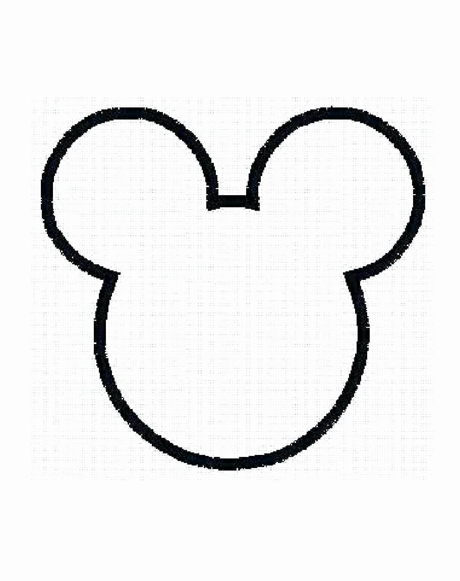 Mickey Mouse Head Template Luxury Mickey Mouse Ears Outline