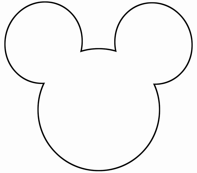Mickey Mouse Head Template Printable Awesome Free Printable Mickey Mouse Silhouette Google Search