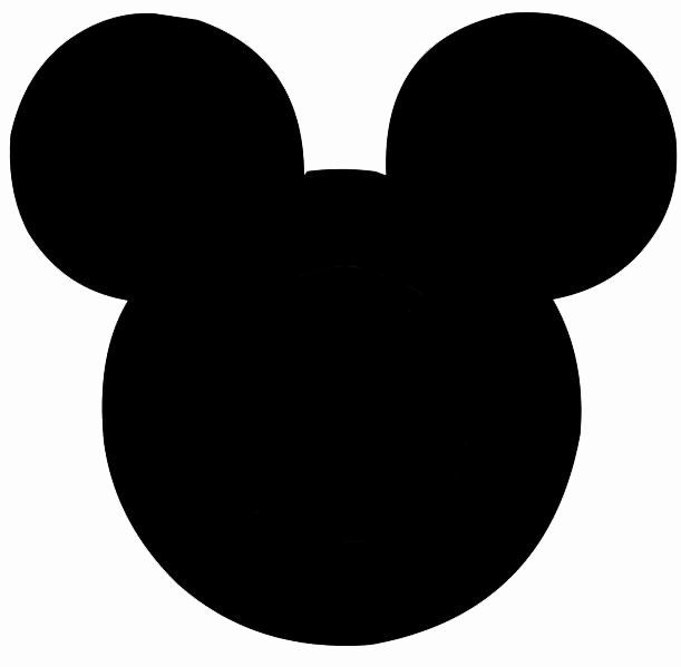 Mickey Mouse Head Template Printable Beautiful Black and White Mickey Silhoettes