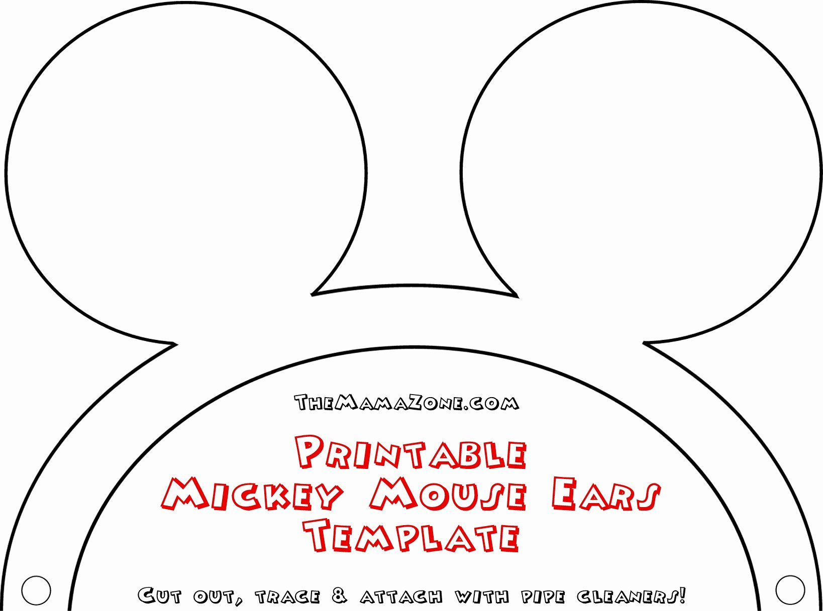 Mickey Mouse Head Template Printable Best Of Free Mickey Mouse Ears Template