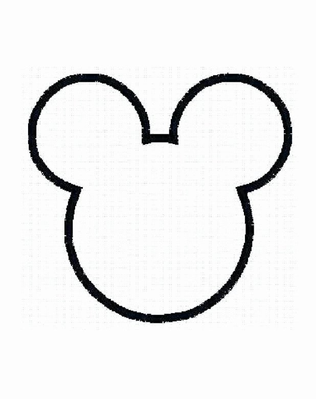 Mickey Mouse Head Template Printable Inspirational Outline Mickey Mouse Head