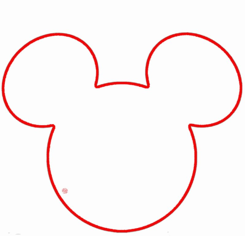 Mickey Mouse Head Template Printable Lovely Mickey Mouse Head Outline Cliparts