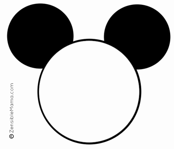 Mickey Mouse Head Template Printable New Mickey Mouse Ear Template Printable Cliparts