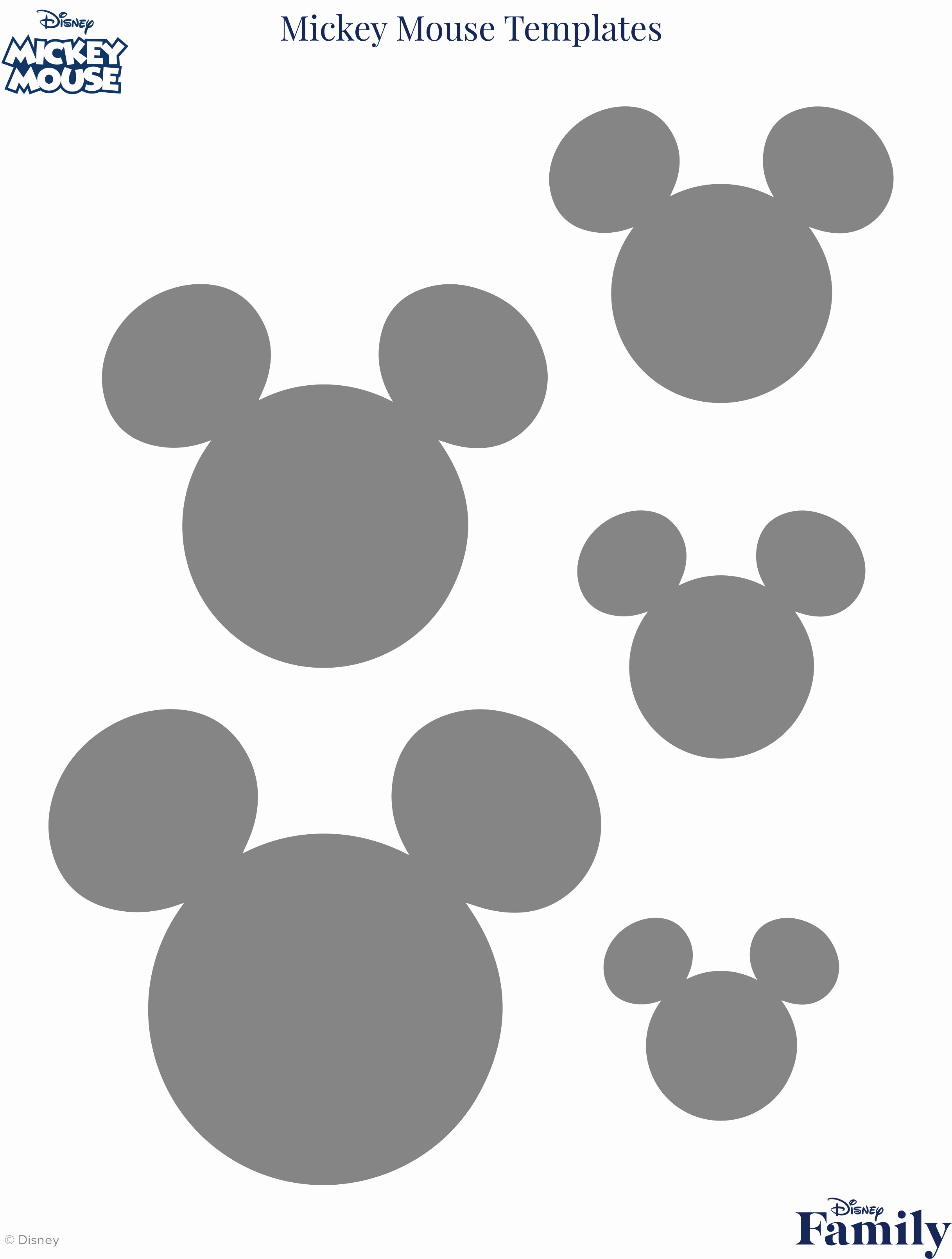 Mickey Mouse Outline Printable Elegant Mickey Mouse Template