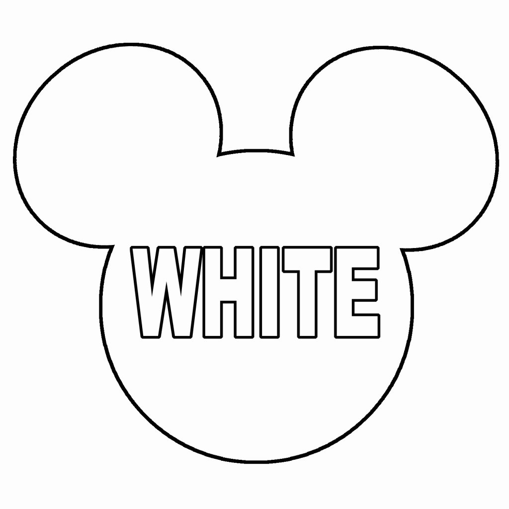 Mickey Mouse Outline Printable Unique Minnie Mouse Head Printable Mickey Mouse Head Clip Art