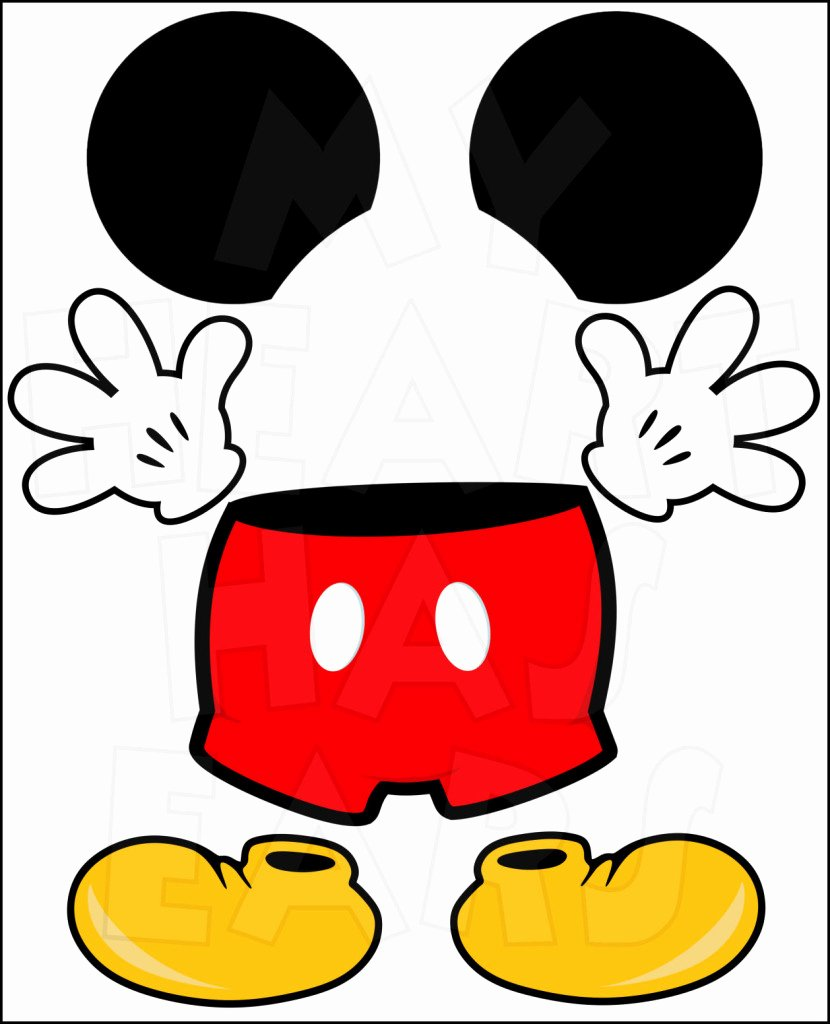 Mickey Mouse Pants Template Best Of Free Mickey Mouse Head Download Free Clip Art Free
