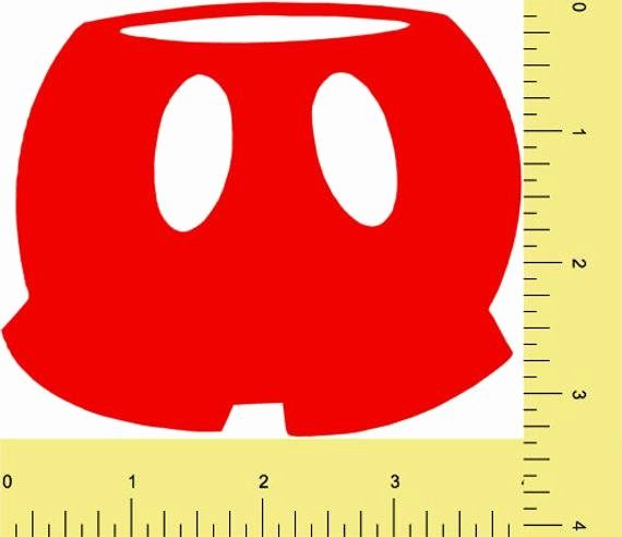 Mickey Mouse Pants Template Lovely Mickey Mouse Pant Die Cut Mickey Mouse Clubhouse Pant