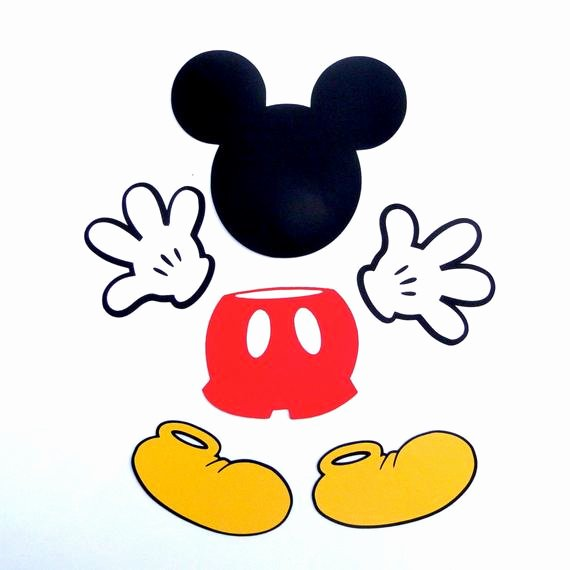 Mickey Mouse Pants Template Unique Mickey Mouse Pant Die Cut Mickey Mouse Clubhouse Pant