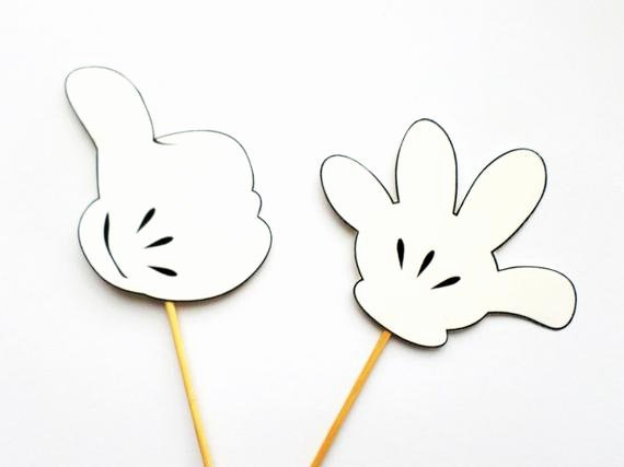 Mickey Mouse Printable Cutouts Awesome Items Similar to Mickey Mouse Hands Mickey Mouse Photo