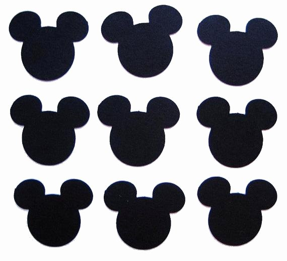 Mickey Mouse Printable Cutouts Best Of 50 Black Mickey Mouse Punch Cut Cutout Scrapbooking