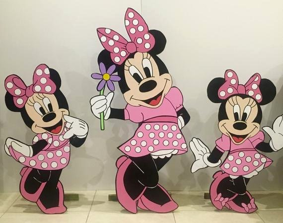 Mickey Mouse Printable Cutouts Inspirational Set Of Wooden Minnie Mouse Cutouts Minnie Mouse Birthday