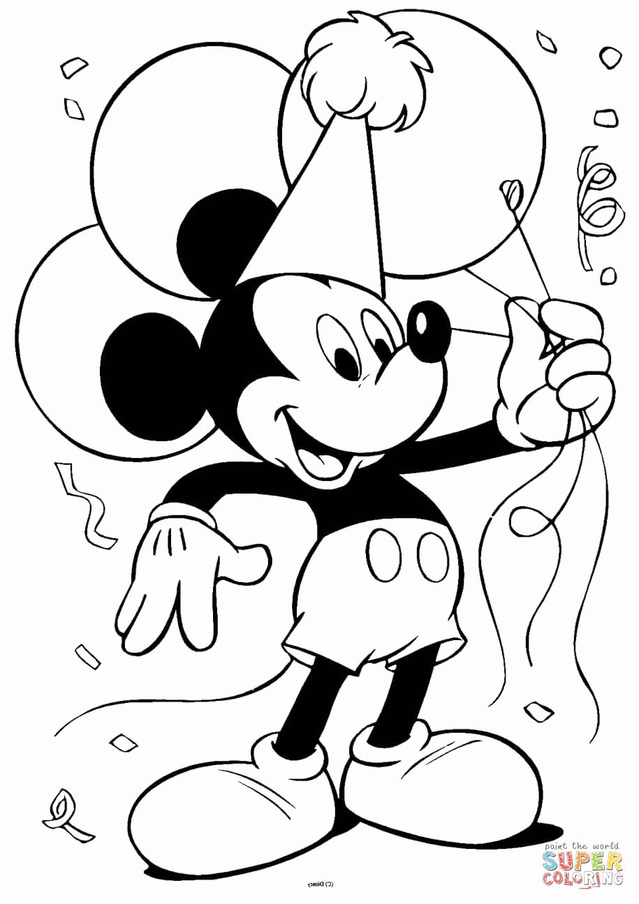 Mickey Mouse Printable Cutouts Luxury Mickey Mouse with Balloons Coloring Page