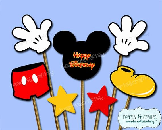 Mickey Mouse Printable Cutouts New Mickey Mouse Centerpiece Cutouts Mickey Mouse Party Cake