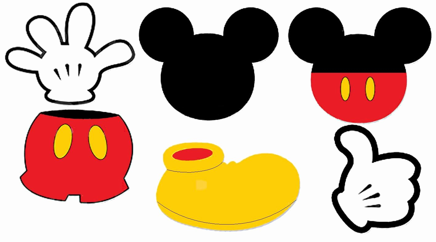 Mickey Mouse Printable Cutouts Unique Printable Mickey Mouse Ears Template Cliparts