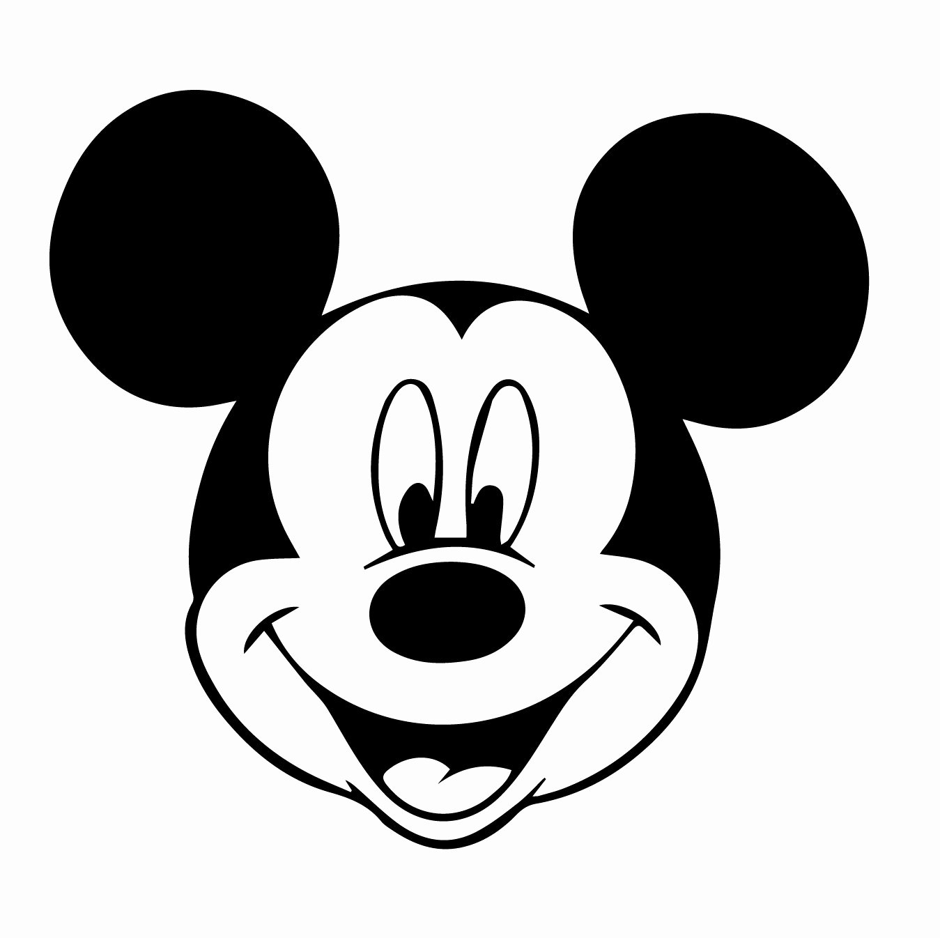 Mickey Mouse Silhouette Printable Best Of Mickey Mouse Face Silhouette at Getdrawings