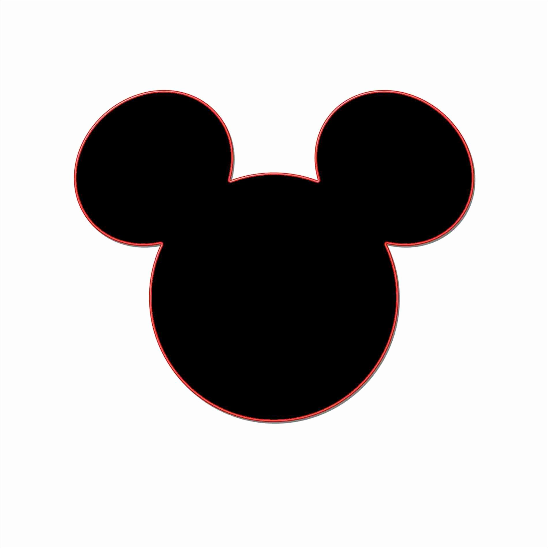 Mickey Mouse Silhouette Printable Fresh Mickey Mouse Silhouette Template at Getdrawings