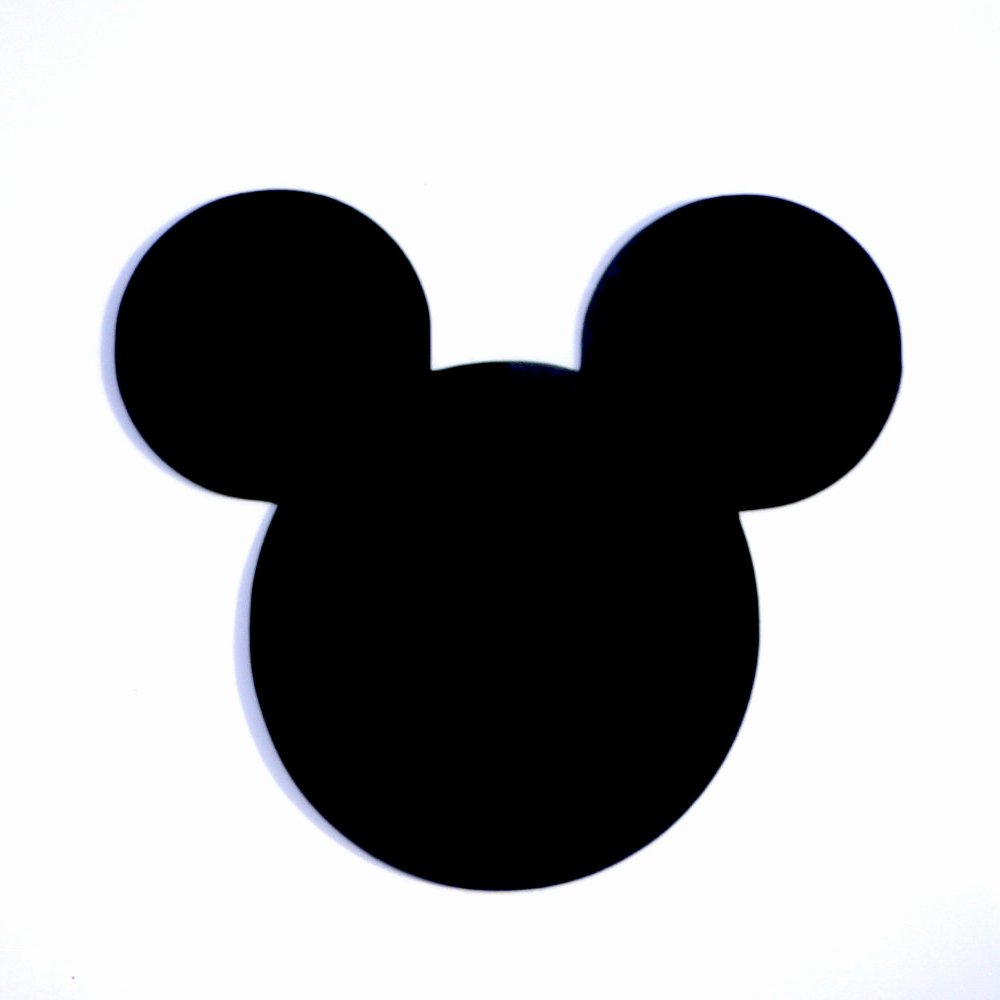 Mickey Mouse Silhouette Printable Luxury Mickey Mouse Face Silhouette at Getdrawings