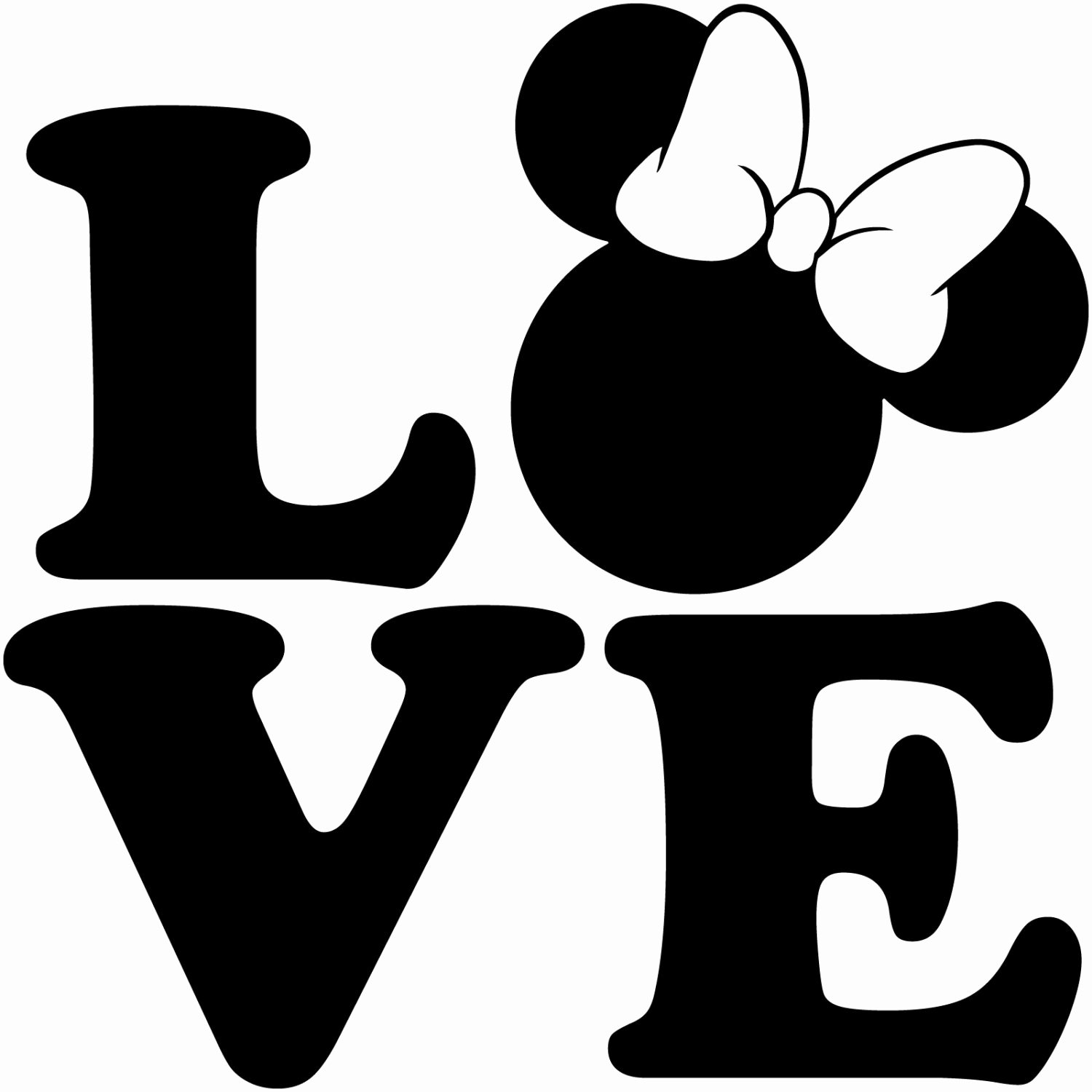 Mickey Mouse Silhouette Printable Unique Minnie Mouse Head Silhouette at Getdrawings