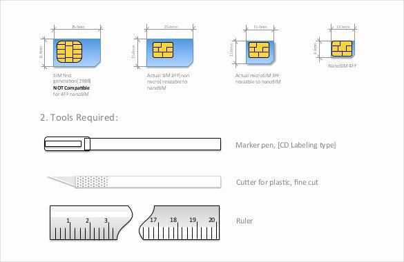 Micro Sim to Nano Sim Template Beautiful 30 Of Micro to Nano Sim Template Pdf
