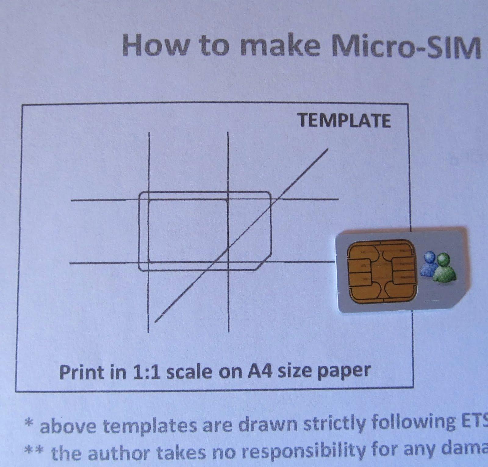 Micro Sim to Nano Sim Template Lovely Daily Hacking Cut My Sim to Microsim Size