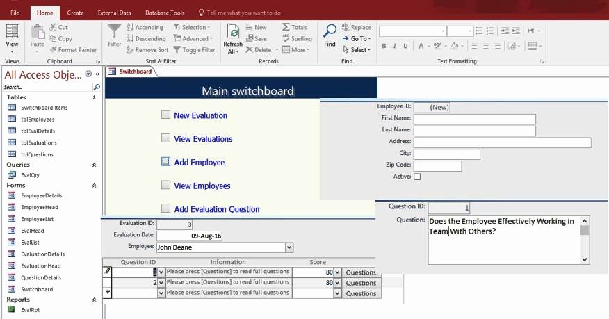 Microsoft Access Templates Best Of Microsoft Access 2016 Templates In Access Database