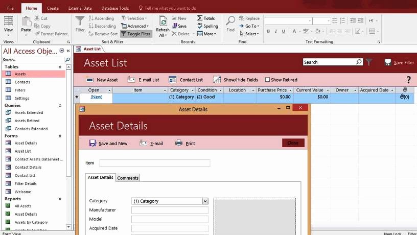 Microsoft Access Templates Fresh Microsoft Access Templates and Database Examples