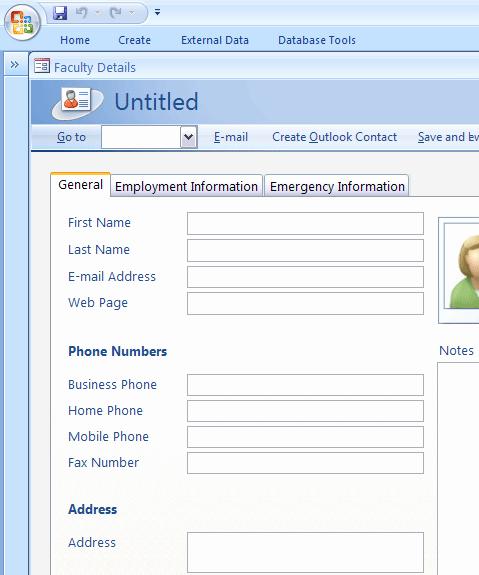 Microsoft Access Templates Inspirational Faculty Database Template Access Templates