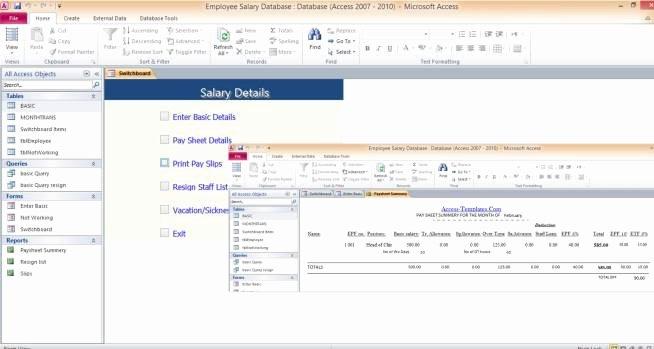 Microsoft Access Templates Inspirational Microsoft Access 2010 Templates In Access Database