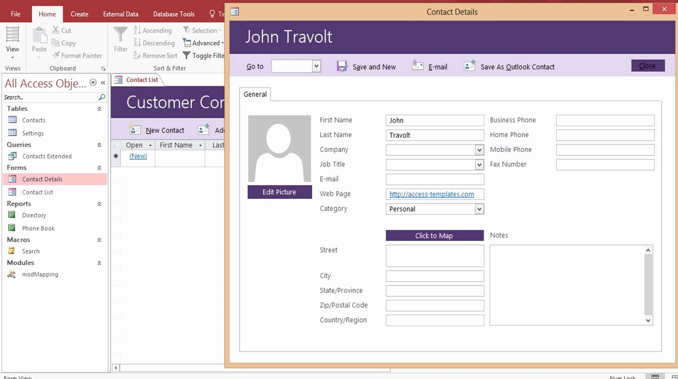 Microsoft Access Templates Lovely Microsoft Access Customer Contact Database