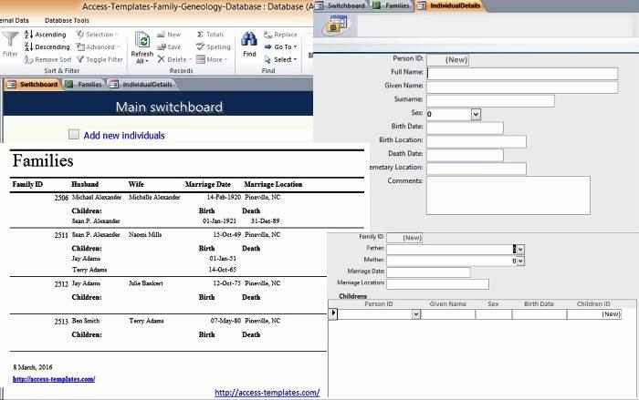 Microsoft Access Templates Luxury Microsoft Access 2007 Templates In Access Database