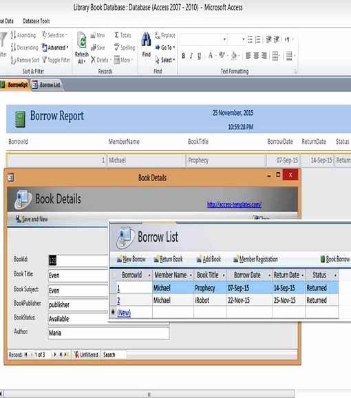 Microsoft Access Templates Luxury Microsoft Access 2010 Templates In Access Database
